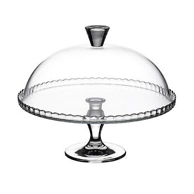 £21.95 • Buy Pasabahce Glass Cake Cupcake Muffin Display Stand Serving Plate Cake Dome Lid