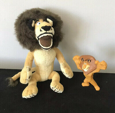 """Alex The Lion From Madagascar  8"""" Cuddly Plush Toy & McDonald's Toy 2008 • 4.99£"""