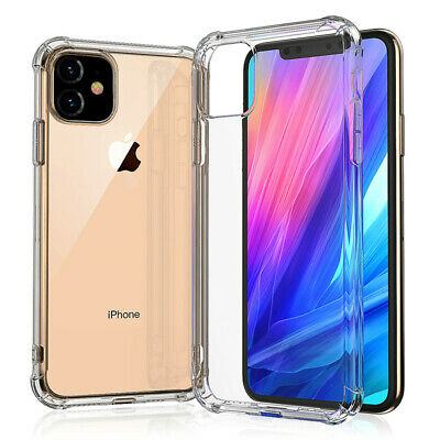 AU8.25 • Buy IPhone 11/11 Pro/11 Pro Max Clear Case Shockproof Bumper Slim Soft Silicone Case
