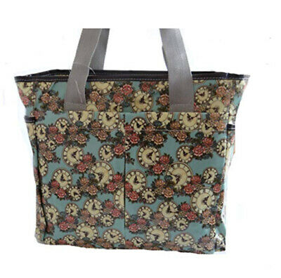 £12.99 • Buy Ladies Large Oilcloth Tote Shopper Bag With Strap Great For Travels Clocks