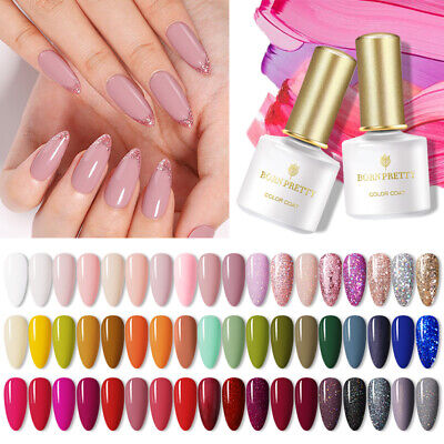 BORN PRETTY 6ml UV Gel Polish Glitter Matte Top Base Coat Soak Off Nail Varnish • 3.29£