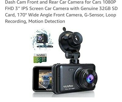 AU59.02 • Buy Dash Cam Front And Rear Car Camera For Cars 1080P FHD 3'' IPS Screen Car Camera