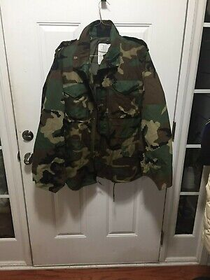 $45 • Buy Army Military M-65 Cold Weather Field Coat Jacket Woodland Camo Vtg Choose Size