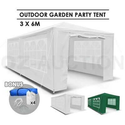AU149.95 • Buy 3x6m Waterproof Outdoor Gazebo Garden Party Canopy Tent Marquee Camping Patio