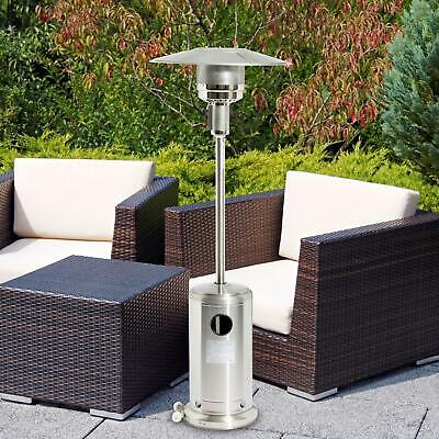 Stainless Steel Gas Patio Heater 13Kw Outdoor Garden BBQ Grill Fire Regulator • 98£