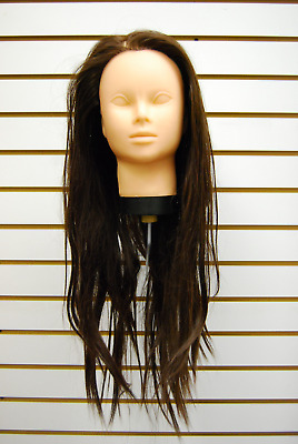 $19.96 • Buy Cosmetology Hairdressing Salon Training Head Mannequin #AC-TRAIN02-BK - No Clamp