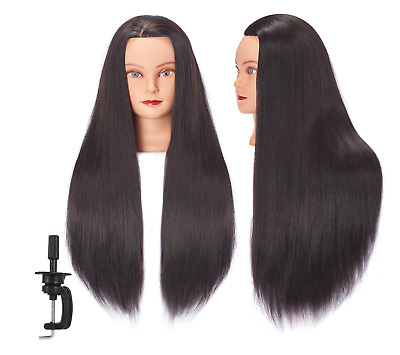 $25.99 • Buy Mannequin Head Human Hair 26 - 28 Synthetic Hairdresser Styling Training Doll