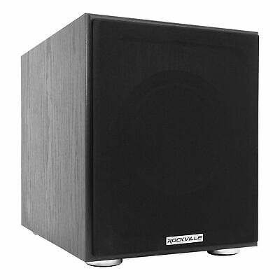 AU101.92 • Buy Rockville Rock Shaker 8  Inch Black 400w Powered Home Theater Subwoofer Sub