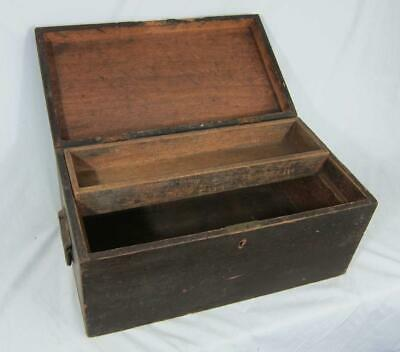 VINTAGE CARPENTERS ENGINEERS TOOL CHEST CABINET BOX With Sliding TRAY Collectors • 45£