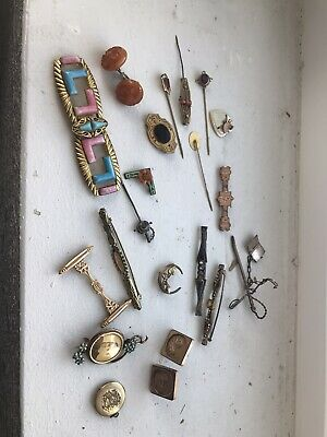 $ CDN66.27 • Buy Great Lot Of Victorian/Vintage Gold Filled Jewelry Czech Deco Pins More