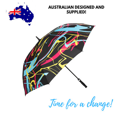 AU29.97 • Buy Large Strong Wind-and Rainproof Golf Umbrella - 157cm. Auto Open, UV Protection.