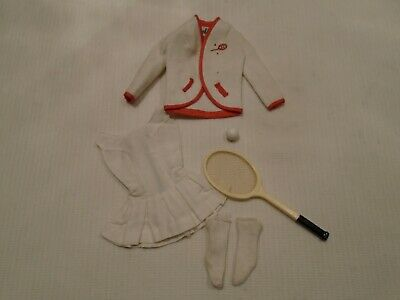 $ CDN22 • Buy  VTG 1962 BARBIE DOLL CLOTHES TENNIS ANYONE OUTFIT W RACKET & BALL #941 1962-64