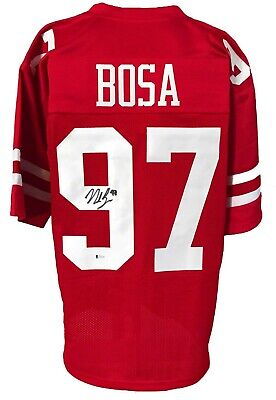 $ CDN78.21 • Buy Nick Bosa Autographed Pro Style Red Jersey BECKETT Authenticated