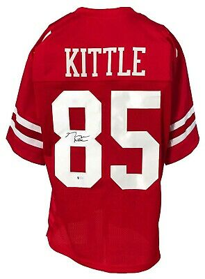 $ CDN67.61 • Buy George Kittle Autographed Pro Style Red Jersey BECKETT Authenticated