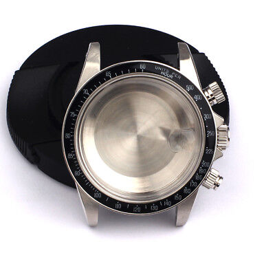 $239.99 • Buy Watch Case Kit For Valjoux 7750 Movement Can DIY TMC 9420 Lug 20mm Black Bezel