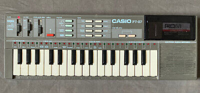 $27.40 • Buy Vintage Casio PT-87 Mini Keyboard W/Rom Cartridge - Working. No Cord Just Batt