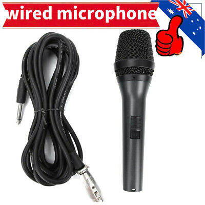 AU20.99 • Buy Professional Live Vocal Wired Microphone Karaoke Cardioid Dynamic Microfone AUS