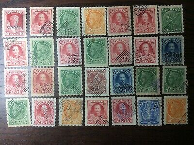 GREECE CRETE Selection Early 28 Stamps, Rural Blue Postmarks Unchecked VF Scarce • 9.99£