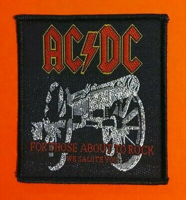 £3.90 • Buy GLITTER! AC/DC For Those About To Rock Album Embroidered Patch OFFICIAL LICENCED