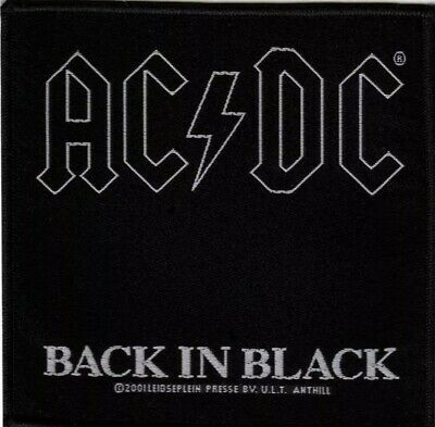 £3.90 • Buy AC/DC BACK IN BLACK Album Embroidered Patch OFFICIAL LICENCED MERCHANDISE Sew