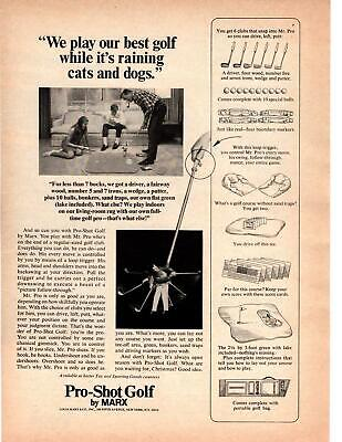 £7.12 • Buy 1967 Pro-Shot Golf By Marx Mr. Pro Dad Kids Tobacco Pipe Living Room Print Ad