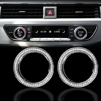 $ CDN43.14 • Buy Air Conditioning Alloy Button Cover Interior Crystal Diamond For 17-20 Q7 A4 S4