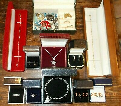 Job Lot Of Vintage & Modern Jewellery Including 925 Sterling Silver Items • 0.99£