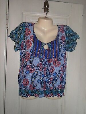 $7.15 • Buy Live And Let Live Woman's Embellished Top Size Large
