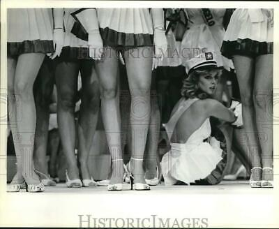 $16.88 • Buy 1983 Press Photo Miss Travis County Rests During Miss Texas USA Rehearsal