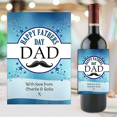 £3 • Buy Personalised Happy Fathers Day Wine Champagne Bottle Sticker Label N185 Gift