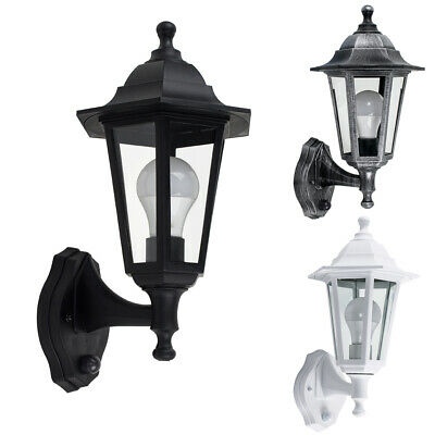 Outdoor Wall Light Traditional Lantern Dusk Til Dawn Sensor LED Bulb Lighting  • 21.99£