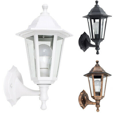 Traditional Outdoor Wall Light Garden Patio Lantern Outside Lighting LED Bulb • 15.99£