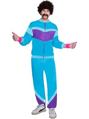 Mens 80s Shell Suit Fancy Dress 1980's Costume Chav Outfit Scouser Track Suit • 14.99£