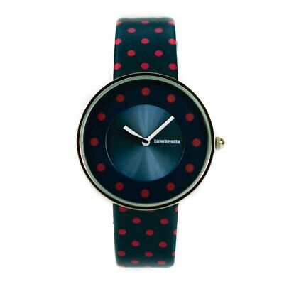 Lambretta Ladies Analogue Watch Blue Leather With Red Dots 2104DRE - New In Box • 39.99£