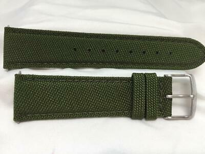 $24.99 • Buy Wenger Watch Band 22mm Kahki Fabric/Leather. Military Style Back Plate # 0341.10