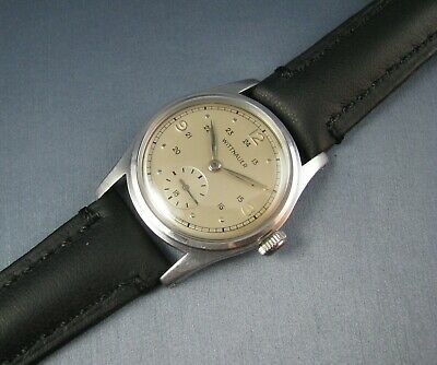 $ CDN430.06 • Buy Vintage Longines Wittnauer Stainless Steel Military Style Mens Watch WW2 10T