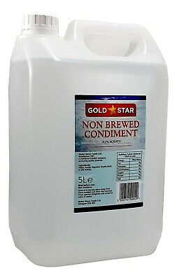 £9.85 • Buy 5 Litre Gold Star White Vinegar For Cleaning, Pickling, Marinating & Cooking New