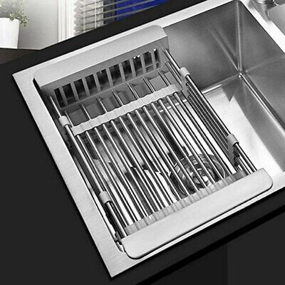 AU30.99 • Buy New Dish Drying Rack Kitchen Organizer Over Sink Dish Drainer Stainless Steel AU