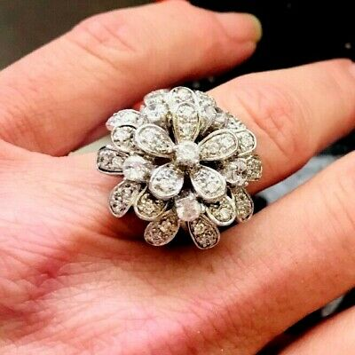 $134.95 • Buy Gorgeous! CHARLES WINSTON Platinum Clad Sterling Cocktail  Ring