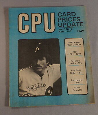 $1 • Buy 1983 Cpu Card Prices Update Baseball Card Magazine - Mike Schmidt Phillies (002)