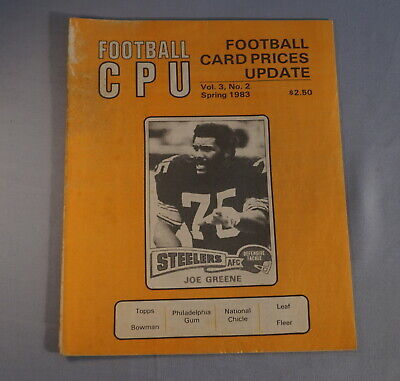 $1 • Buy 1983 Cpu Card Prices Update Football Card Magazine - Joe Greene Steelers