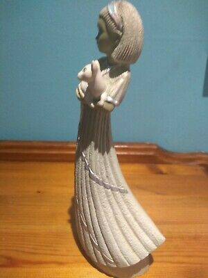 Enesco Ivory Princess Figurine  Parastone Pale Green  Signed By Ed Von Rasmalen  • 5£