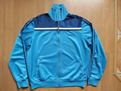Vintage 1980s Adidas Trefoil Tracksuit Track Top Made In West Germany Size M/L • 40£