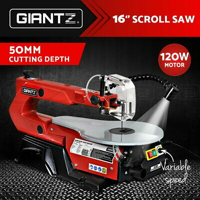 AU123.95 • Buy Giantz Scroll Saw 120W Saws Scrollsaw Blades Variable Speed Electric Lamps
