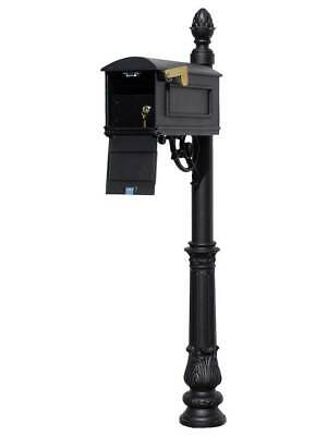 $500.08 • Buy Lewiston Equine Mailbox Post System With Locking Insert, Ornate Base, Pineapp...