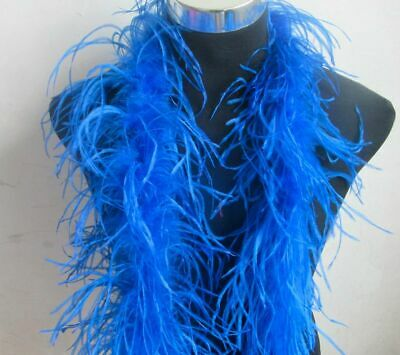 2 Meter Fluffy Ostrich Feather Boa Skirt Costumes Trim For Party Wedding Craft  • 15.99£