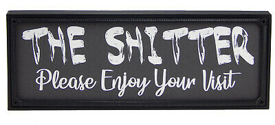 Funny-Shitter Toilet Sign Wall Hanging Bathroom Restroom Plaque Word Art Gift • 10.63£