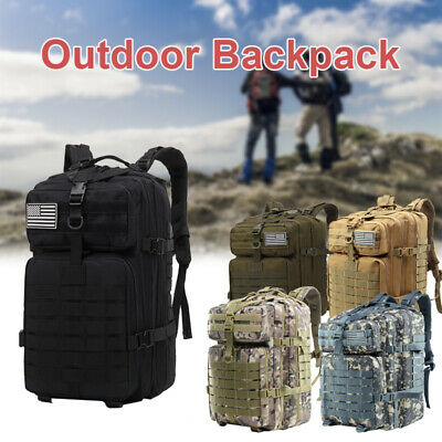 AU40.99 • Buy 55L Outdoor Military Rucksack Tactical Backpack Camouflage Hiking Camping Bag