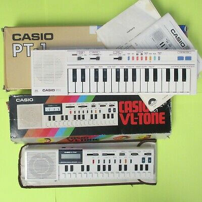 $125 • Buy Casio VL-1 VL-Tone & Casio PT-1 Electronic Musical Instruments W/ Original Boxes