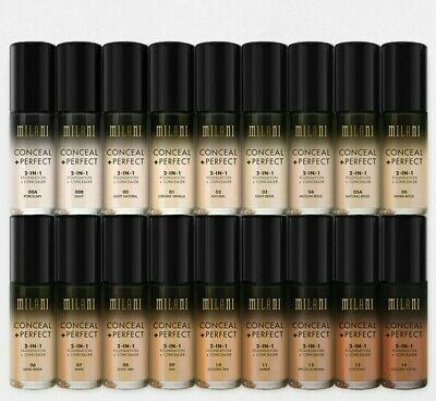 MILANI CONCEAL + PERFECT 2 In 1 FOUNDATION AND CONCEALER NEW YOU CHOOSE SHADE • 14.99£
